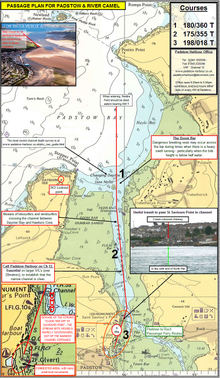 Passage Plan Padstow and River Camel